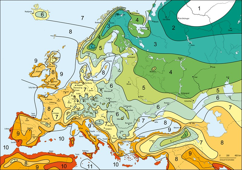 Zóny Mrazuvzdornosti Evropy